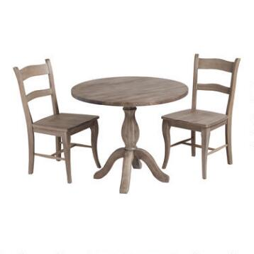 Weathered Gray Jozy Drop Leaf Dining Collection