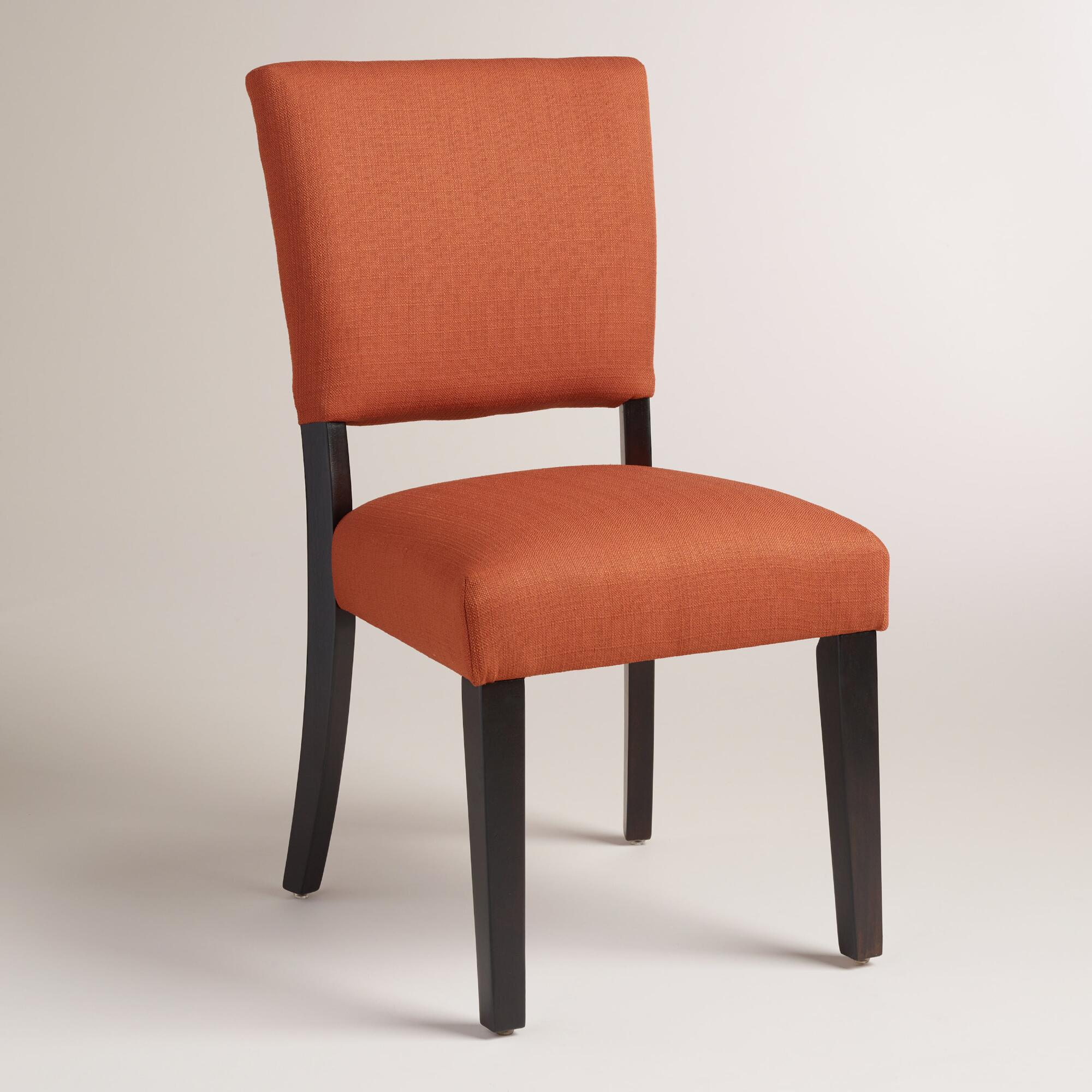 Orange Dining Chairs: Henna Orange Mady Dining Chairs, Set Of 2