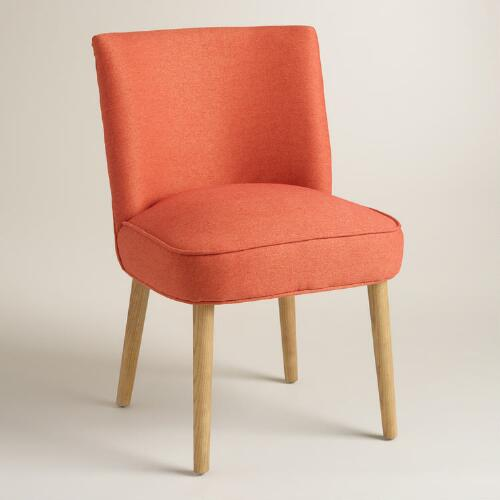 Orange Edena Dining Chairs, Set of 2