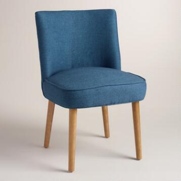 Blue Edena Dining Chairs, Set of 2