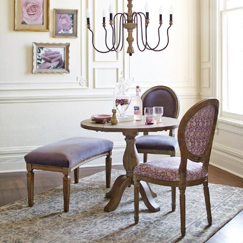 plum velvet paige round back dining chairs set of 2