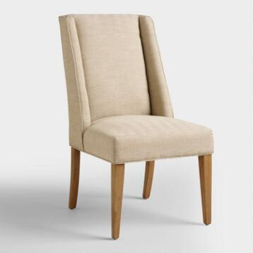 Khaki Herringbone Lawford Dining Chairs
