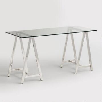 Glass and Chrome Colton Mix & Match Desk