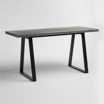 Metal Top and Blackened Base Colton Mix & Match Desk