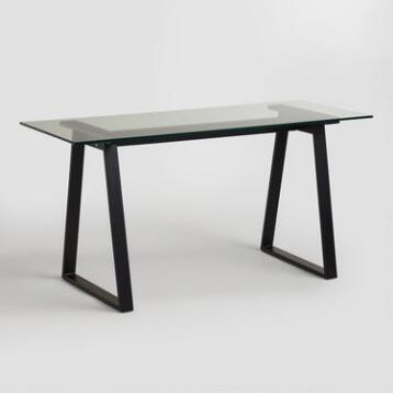 Glass and Blackened Metal Colton Mix & Match Desk