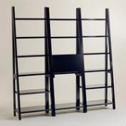 Black Lacquer Josephine Bookcase Collection
