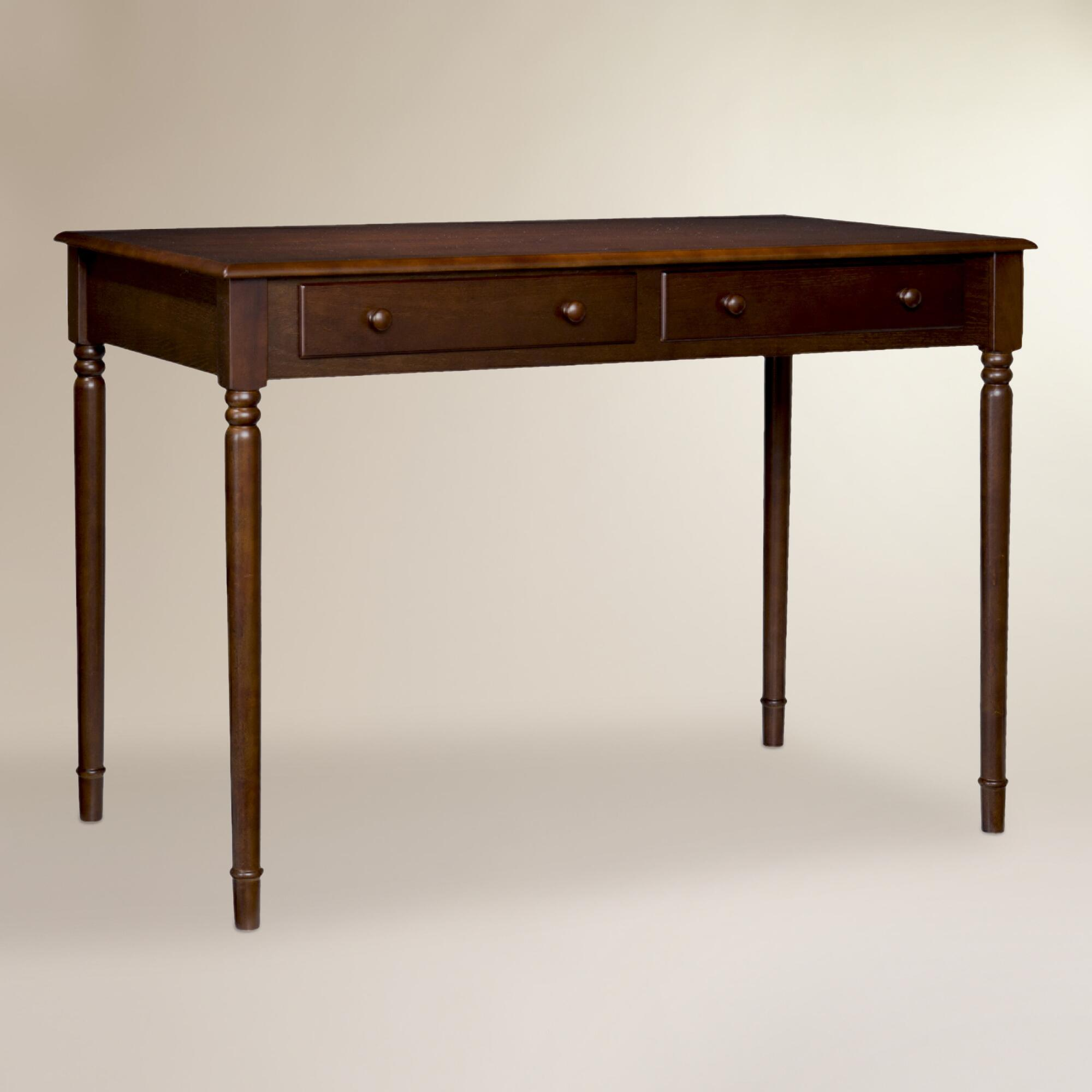 Espresso wood farran writing desk world market