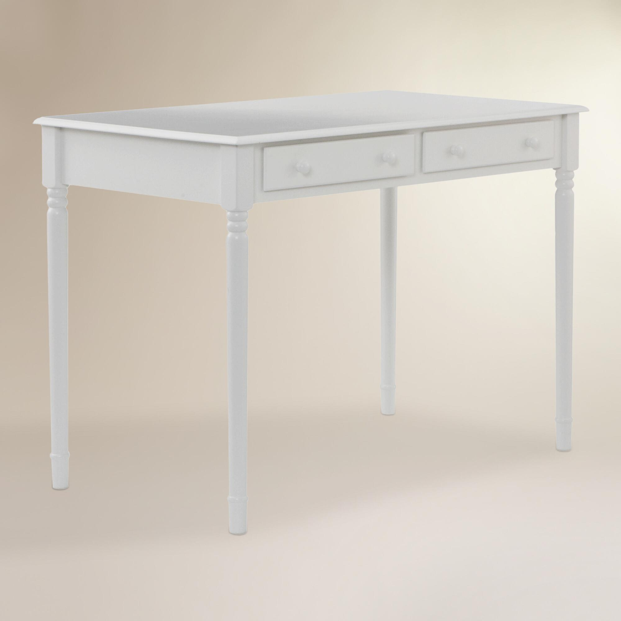 white wood farran writing desk  world market