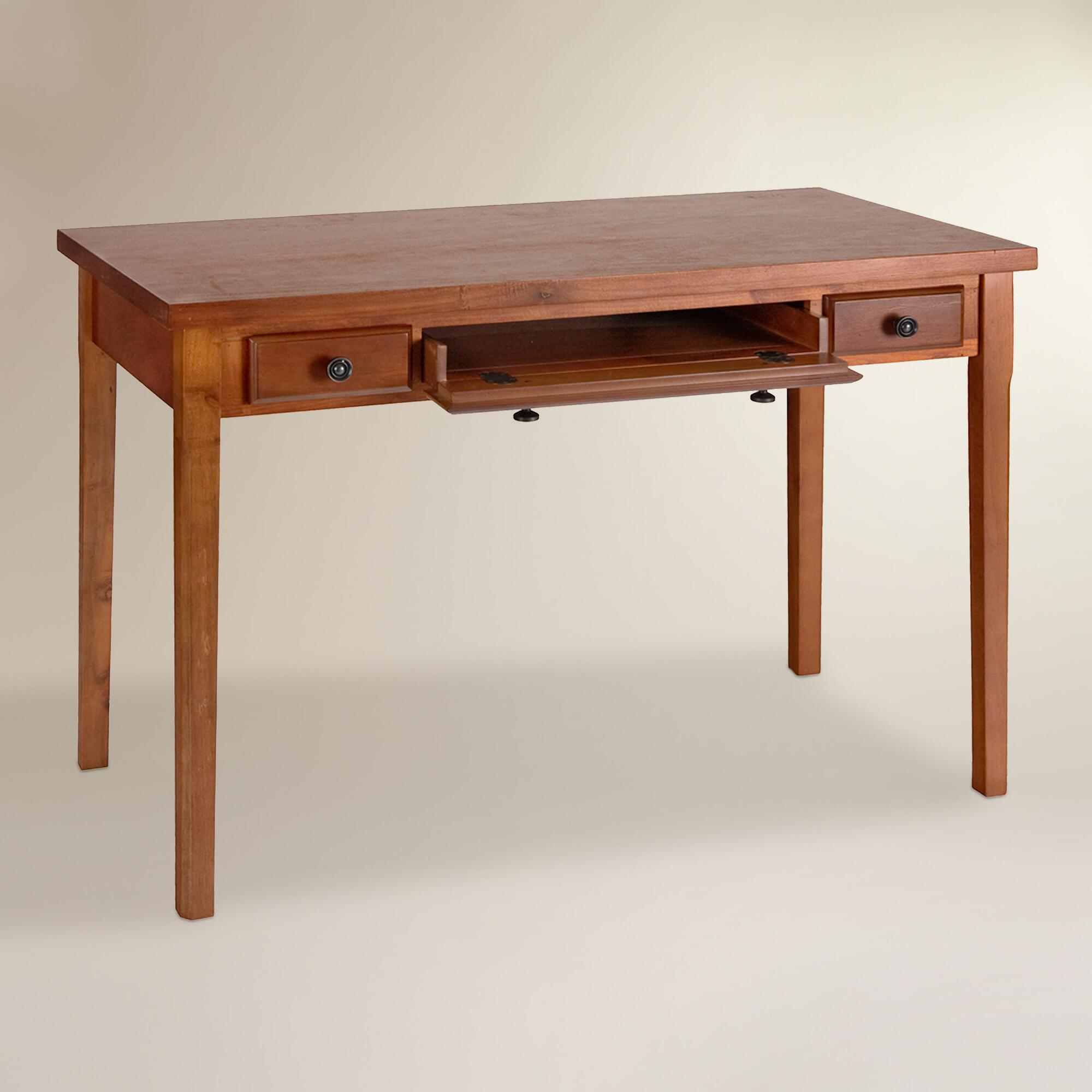 Mahogany Wood Desk ~ Mahogany wood writing desk world market