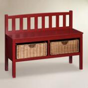 Red Wood Oakdale Storage Bench