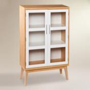 Glass Double Door Abie Storage Cabinet