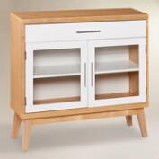 Glass Door Abie Storage Cabinet