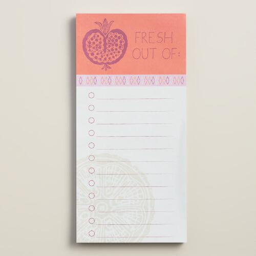 Harvest Fruit Magnetic Grocery List Pad