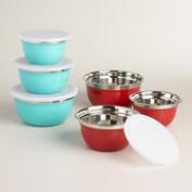 Stainless Steel Storage Bowls Set, 3-Piece