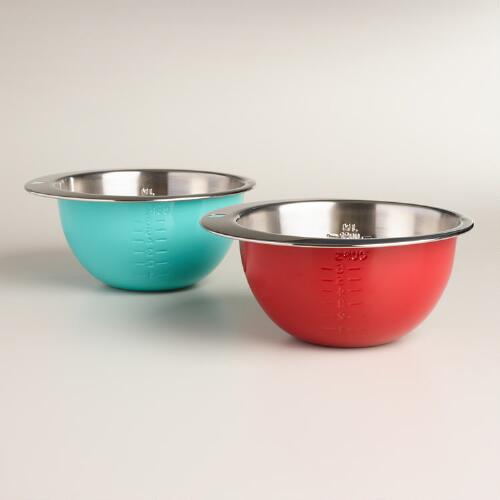 Stainless Steel Measuring Bowls, Set of 2