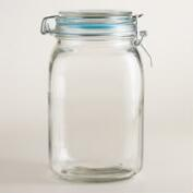 Large Glass Clamp Jars, Set of 6