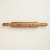 Lace Burned Wood Rolling Pin