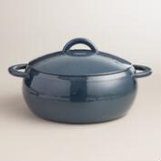 Denim Reactive Glaze Cast Iron Dutch Oven