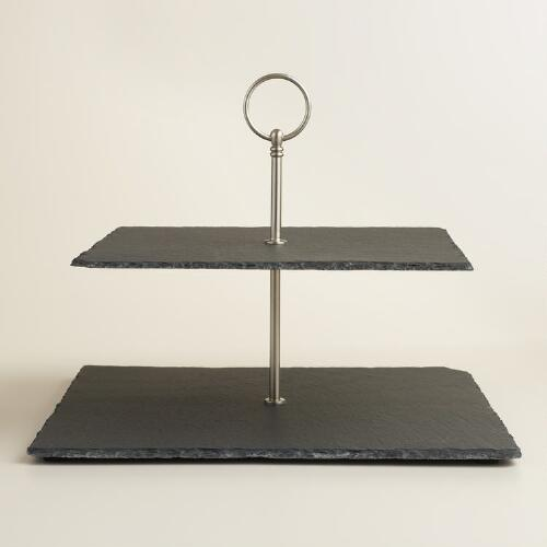 Slate Two-Tier Cheese Board