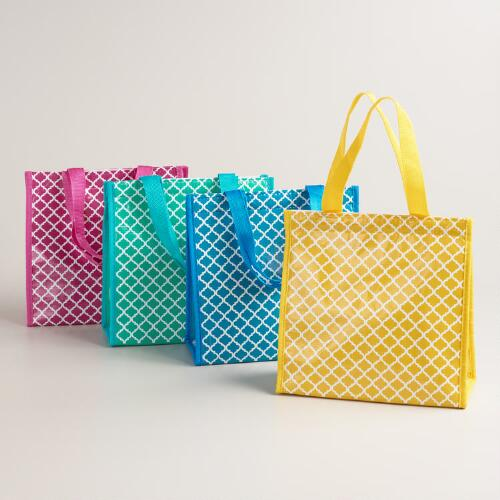 Quatrefoil Mini Insulated Totes, Set of 4