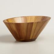 Acacia Wood Angled Salad Bowl