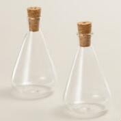 Glass Teardrop Salt and Pepper Shaker Set