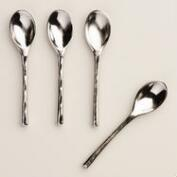 Stainless Steel Salt Spoons, Set of 4