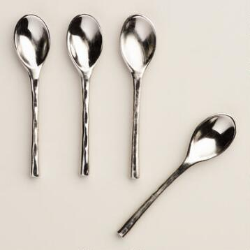 Stainless Steel Salt Spoons, 4-Pack