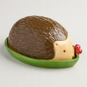 Ceramic Hedgehog Butter Dish