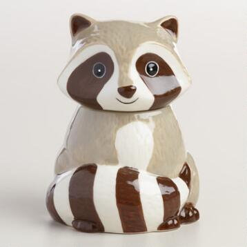 Ceramic Raccoon Sugar Pot