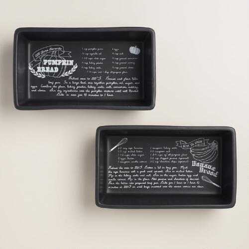 Chalk Ceramic Loaf Pans, Set of 2