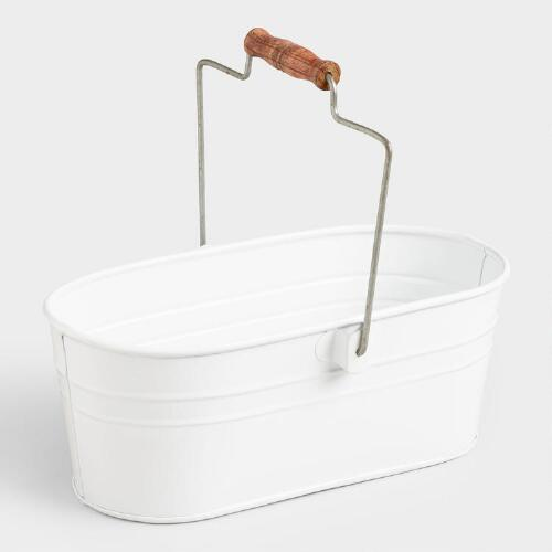 Matte White Housekeeping Utility Bucket