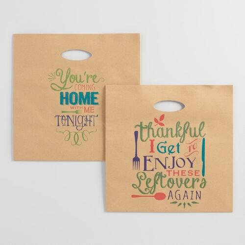Paper Leftover Bags, 4-Count