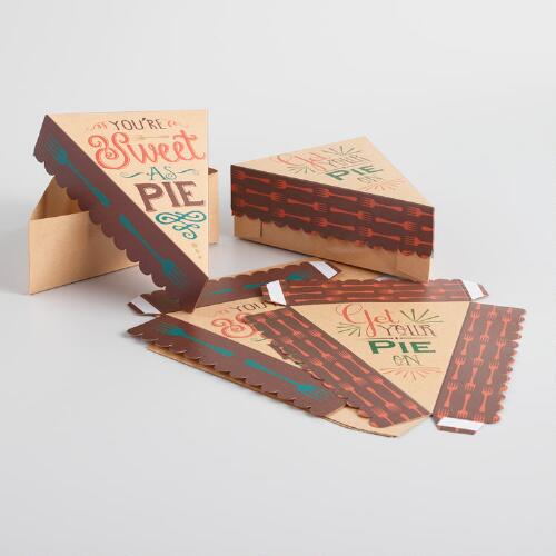 """Sweet as Pie"" Pie Slice Boxes, 4-Pack"