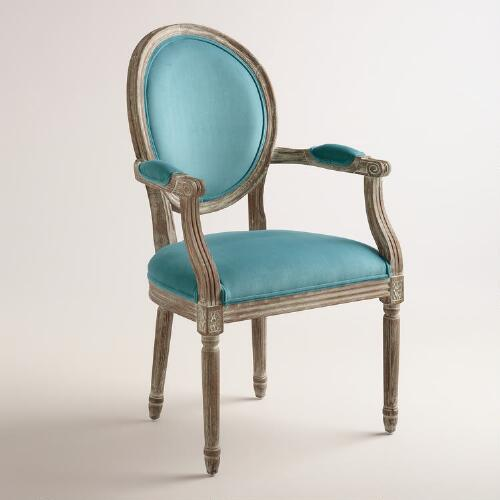 Peacock Paige Round Back Upholstered Armchair