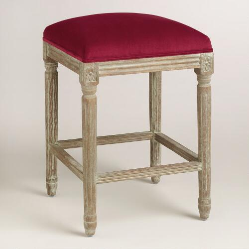 Merlot Paige Backless Counter Stool