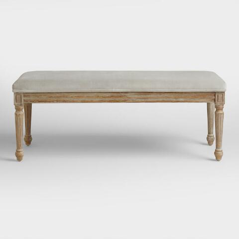 Dove Velvet Paige Dining Bench World Market