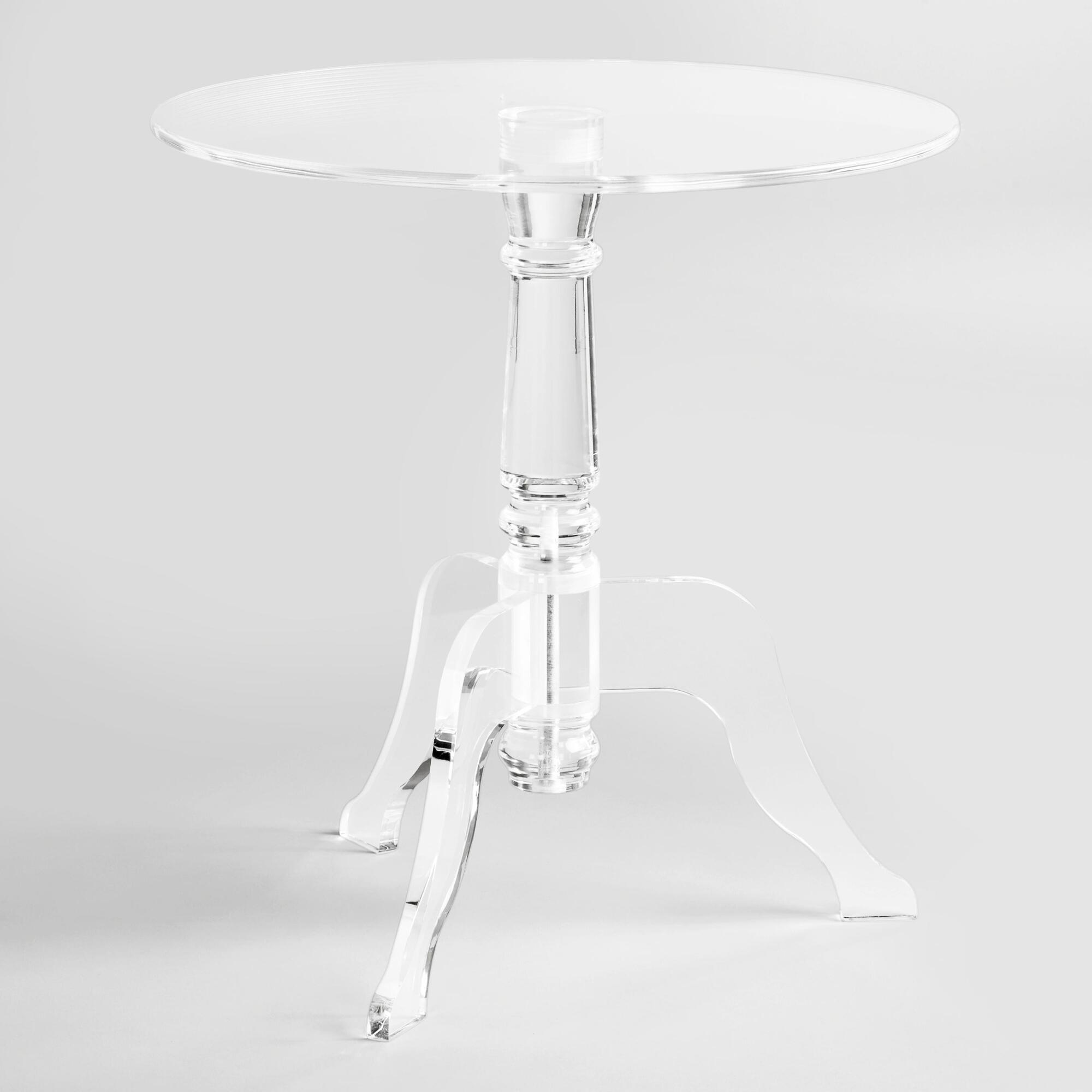 Clear Acrylic Zella Accent Table World Market