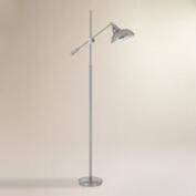 Brushed Steel Adjustable Westfall Floor Lamp