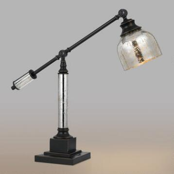 Antiqued Glass Pharmacy Desk Lamp