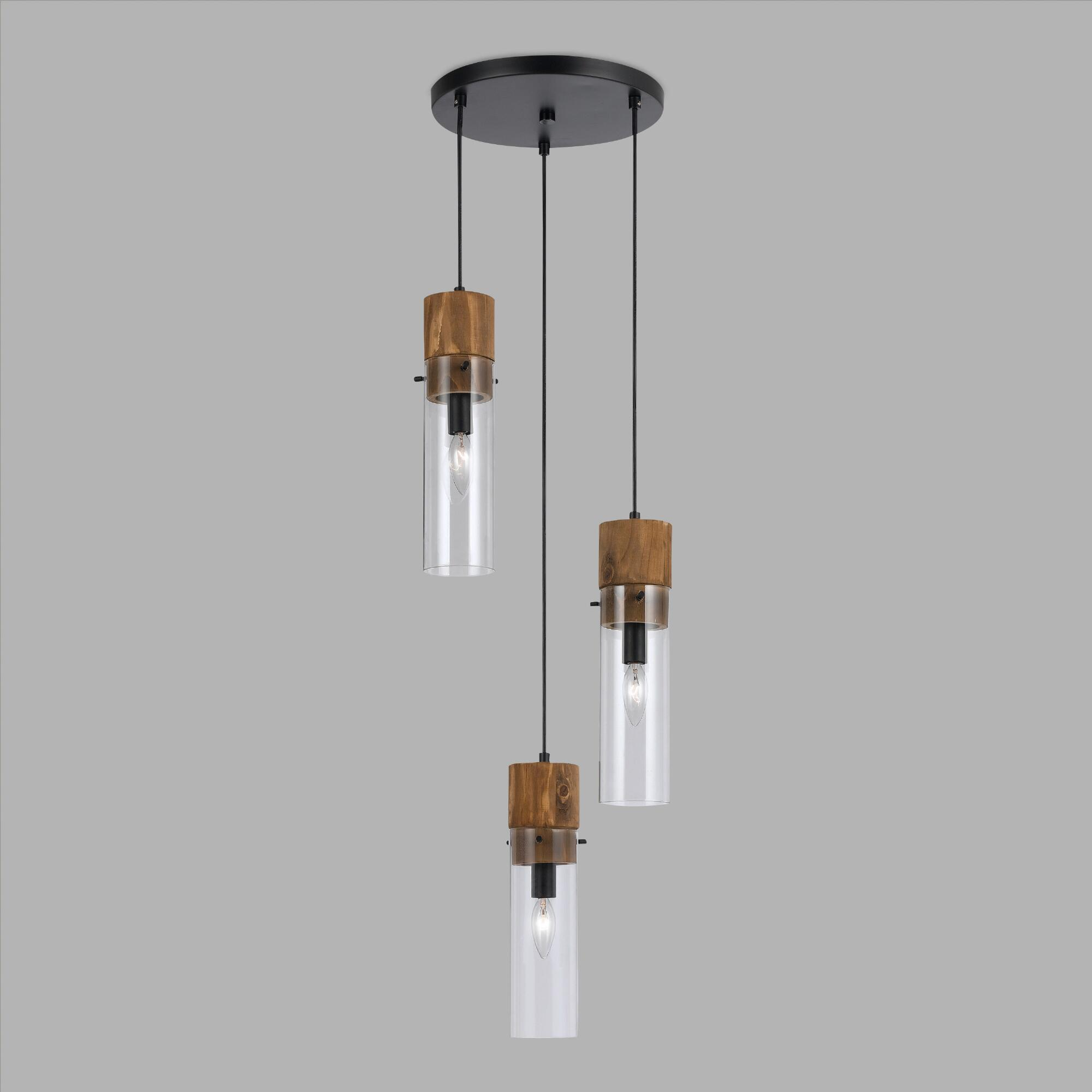 3 light pendant fixture
