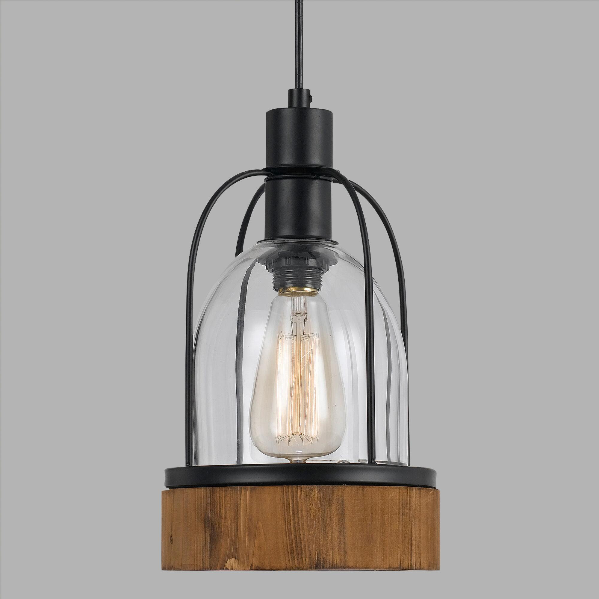 wood and glass industrial style pendant lamp world market. Black Bedroom Furniture Sets. Home Design Ideas