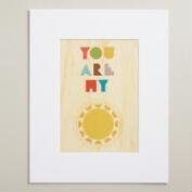 Small You Are My Sunshine Print on Wood Wall Art