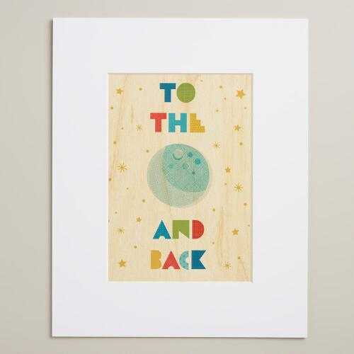 Small To the Moon and Back Wall Art