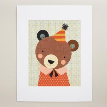 Large Party Bear Wall Art