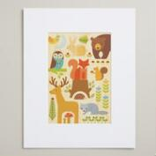 Small Forest Parade Print on Wood Wall Art