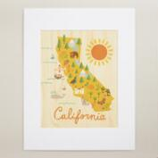 Large California Map Wall Art