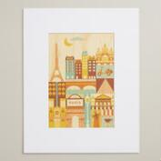 Small Paris Print on Wood Wall Art