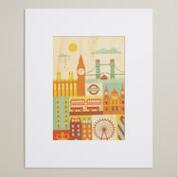 Small London Print on Wood Wall Art