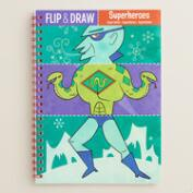 Superheroes Flip and Draw Activity Book